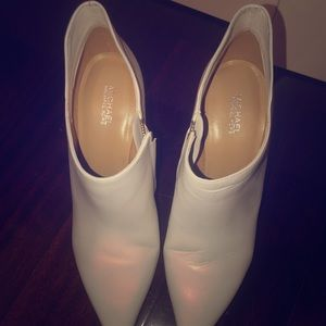 MICHAEL Michael Kors white leather booties